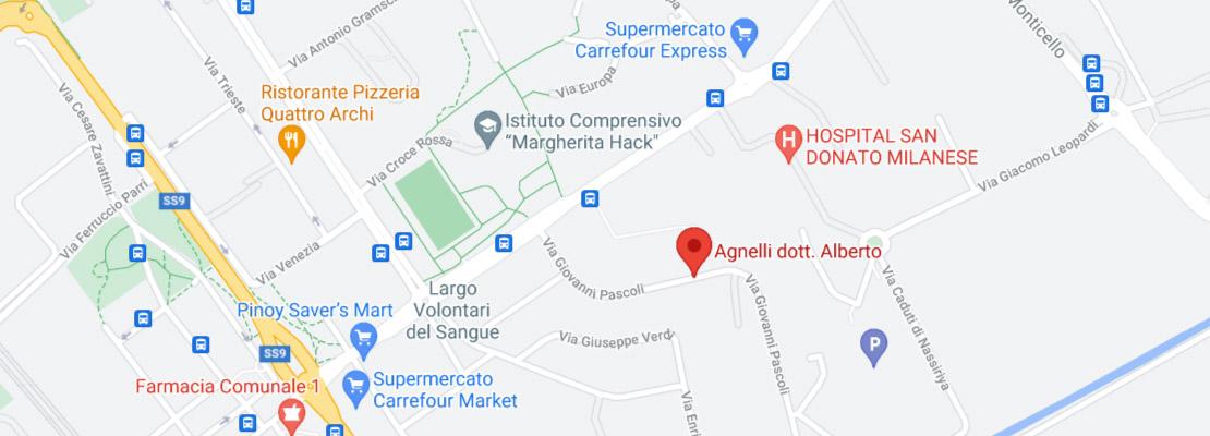 Dr. Alberto Agnelli: indirizzo dello studio di San Donato Milanese